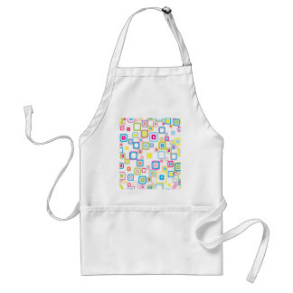 Retro Pattern With Rounded Squares Aprons