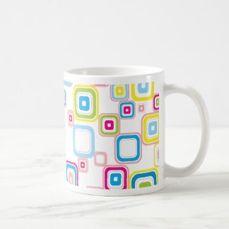 Retro Pattern With Rounded Squares Coffee Mug