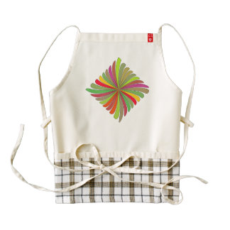 RETRO PATTERN ZAZZLE HEART APRON