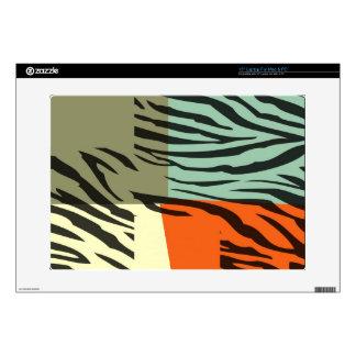 Retro Pattern Zebra Pop Art Laptop Decals