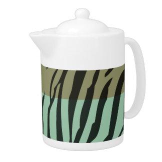 Retro Pattern Zebra Pop Art Teapot