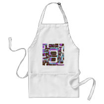 Retro Patterned Adult Apron