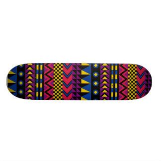 Retro patterned skateboard