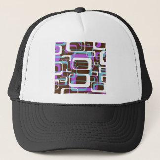 Retro Patterned Trucker Hat