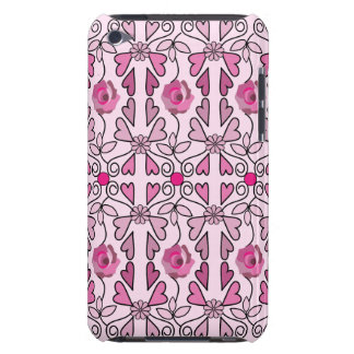 Retro patterns roses flowers hearts iPod touch covers