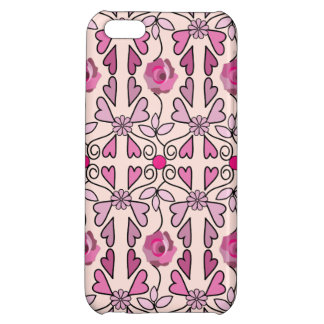 Retro patterns roses flowers hearts iPhone 5C case