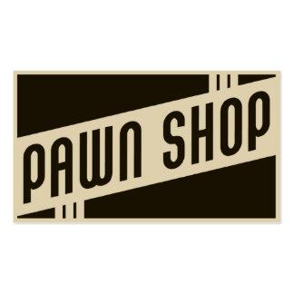 retro pawn shop business cards