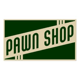 retro pawn shop business card
