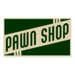 retro pawn shop business card templates