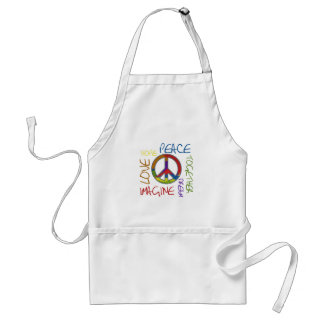 Retro Peace Adult Apron