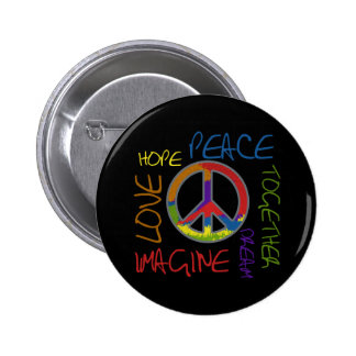 Retro Peace Button