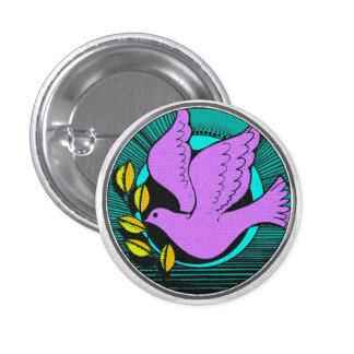 Retro Peace Dove Olive Branch Design Button