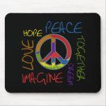 Retro Peace Mouse Pad