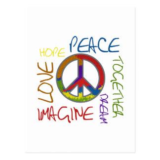 Retro Peace Postcard