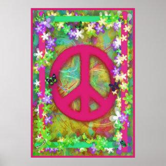 Retro Peace Poster