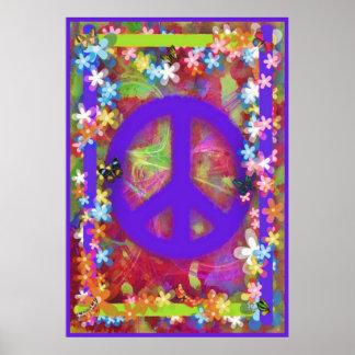 Retro Peace Poster V