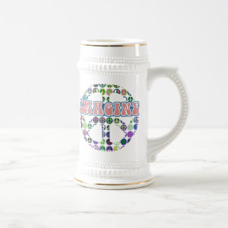 Retro Peace Sign Beer Stein
