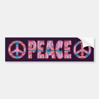 RETRO PEACE SIGN BUMPER STICKER