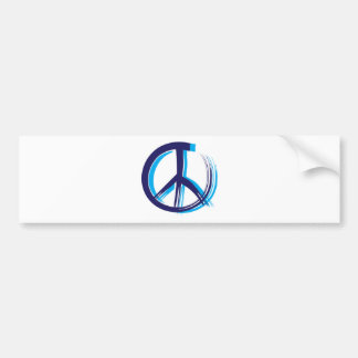 Retro Peace Sign Bumper Sticker