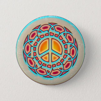 RETRO PEACE SIGN BUTTON