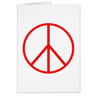 Retro Peace Sign Card