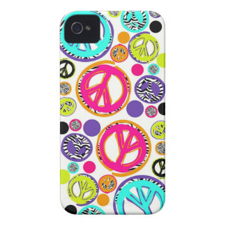Retro Peace Sign iPhone 4 Cover
