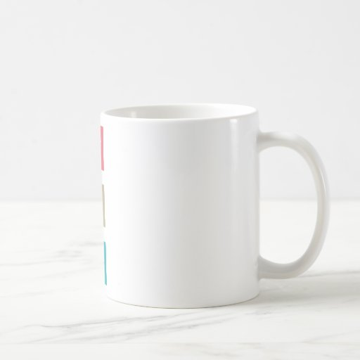 """Retro Peace Sign"" Classic White Coffee Mug"