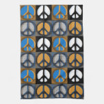 Retro Peace Sign Hand Towel