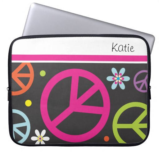 Retro Peace Sign      Laptop Sleeves