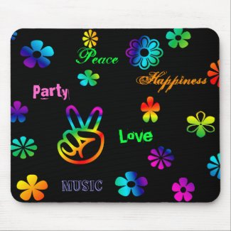 Retro Peace Sign Mousepad mousepad