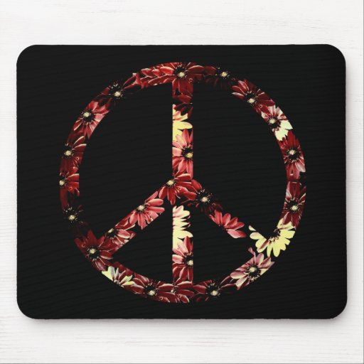 Retro Peace Sign Mouse Pad