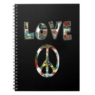 Retro Peace Sign Notebook