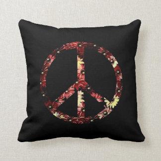 Retro Peace Sign Pillow