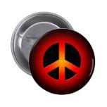 RETRO PEACE SIGN PINBACK BUTTON