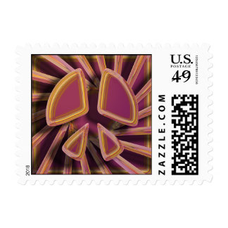 RETRO PEACE SIGN POSTAGE STAMPS