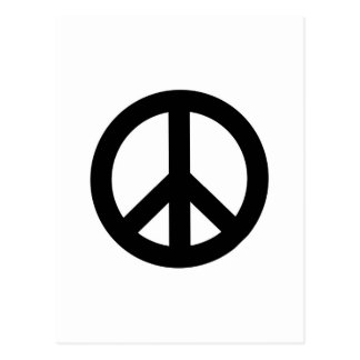 Retro Peace Sign Postcard