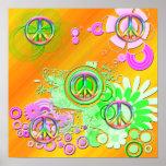 Retro Peace Sign Poster