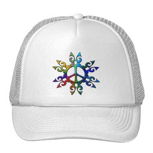 RETRO PEACE SIGN TRUCKER HAT