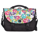Retro Peace Signs Commuter Bags
