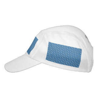 Retro Peace Signs on Deep Blue Headsweats Hat