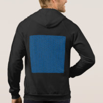 Retro Peace Signs on Deep Blue Hoodie