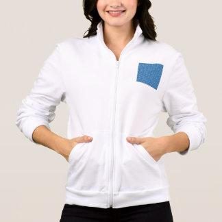 Retro Peace Signs on Deep Blue Jacket