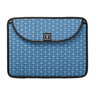 Retro Peace Signs on Deep Blue Sleeve For MacBooks