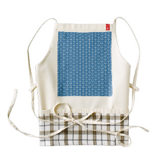 Retro Peace Signs on Deep Blue Zazzle HEART Apron