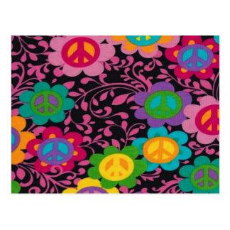 Retro Peace Signs Post Card
