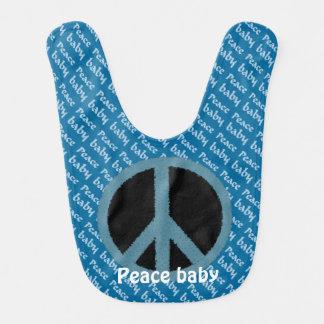Retro Peace Symbol baby bib
