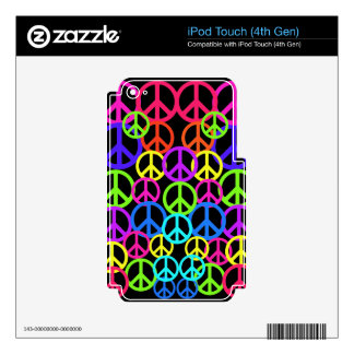 Retro Peace Symbols Electronic Cases iPod Touch 4G Decals