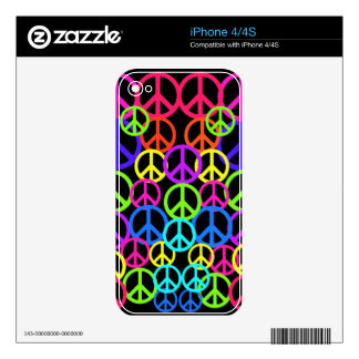 Retro Peace Symbols Electronic Cases Skins For The iPhone 4S