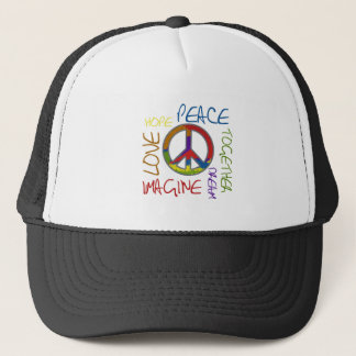 Retro Peace Trucker Hat