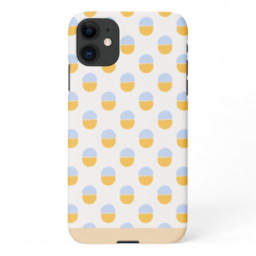 Retro Peach & Blue Dots iPhone 11 Case
